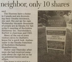 Berkshire Hathaway Lists Home For Sale, However You Have To Buy It In Shares