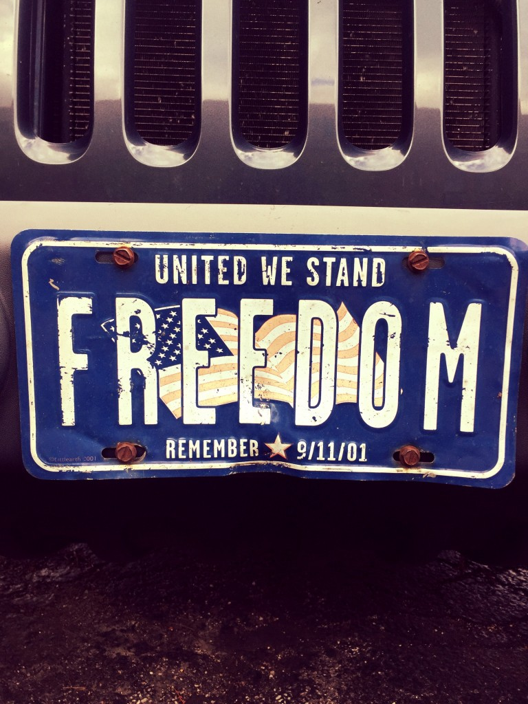 Having a license plate representing everything you believe in. TFM.