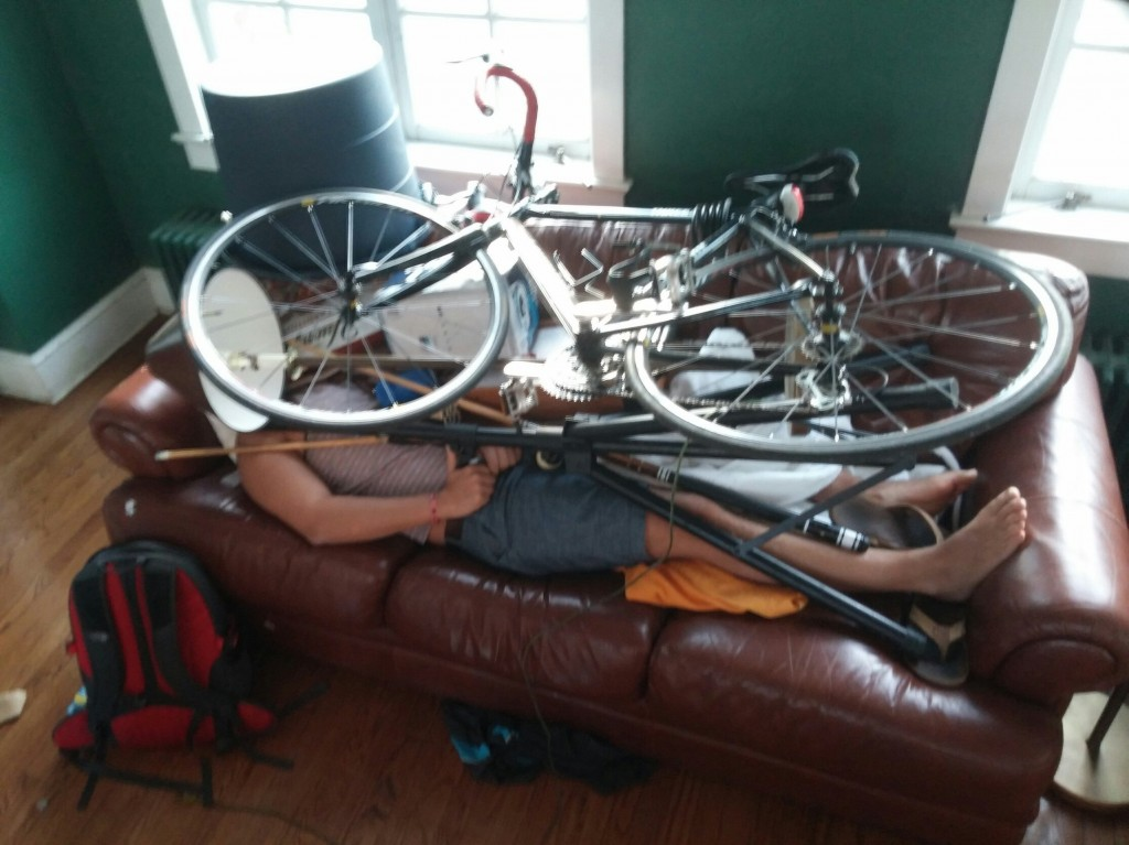 Don't pass out with your cycling shoes on, brehhhh!
