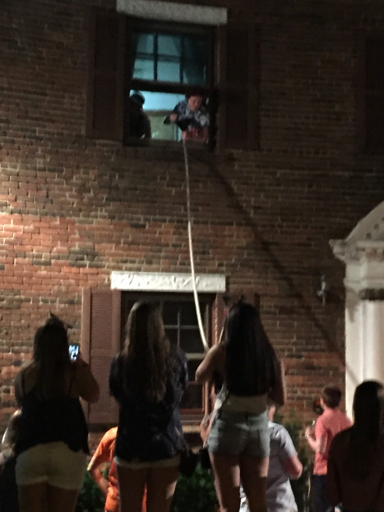 2 story beer bong at the America party. TFM.