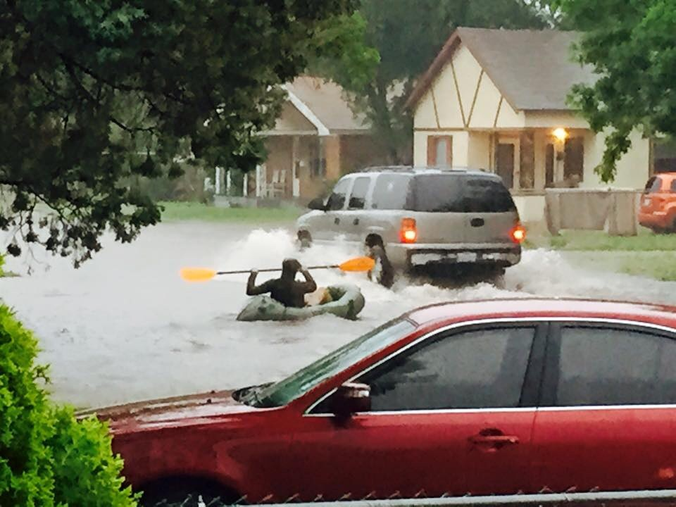 Sending a pledge on a tobacco run during a flood. TFM.