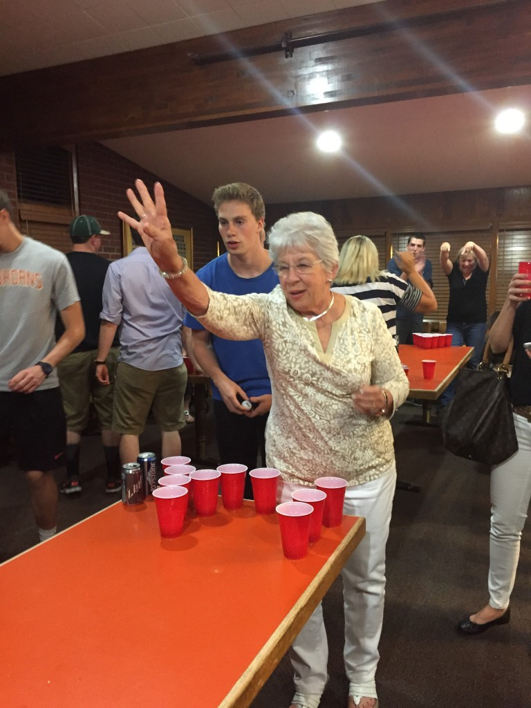 80 years of age not stopping grandma on Mom's Weekend. TFM