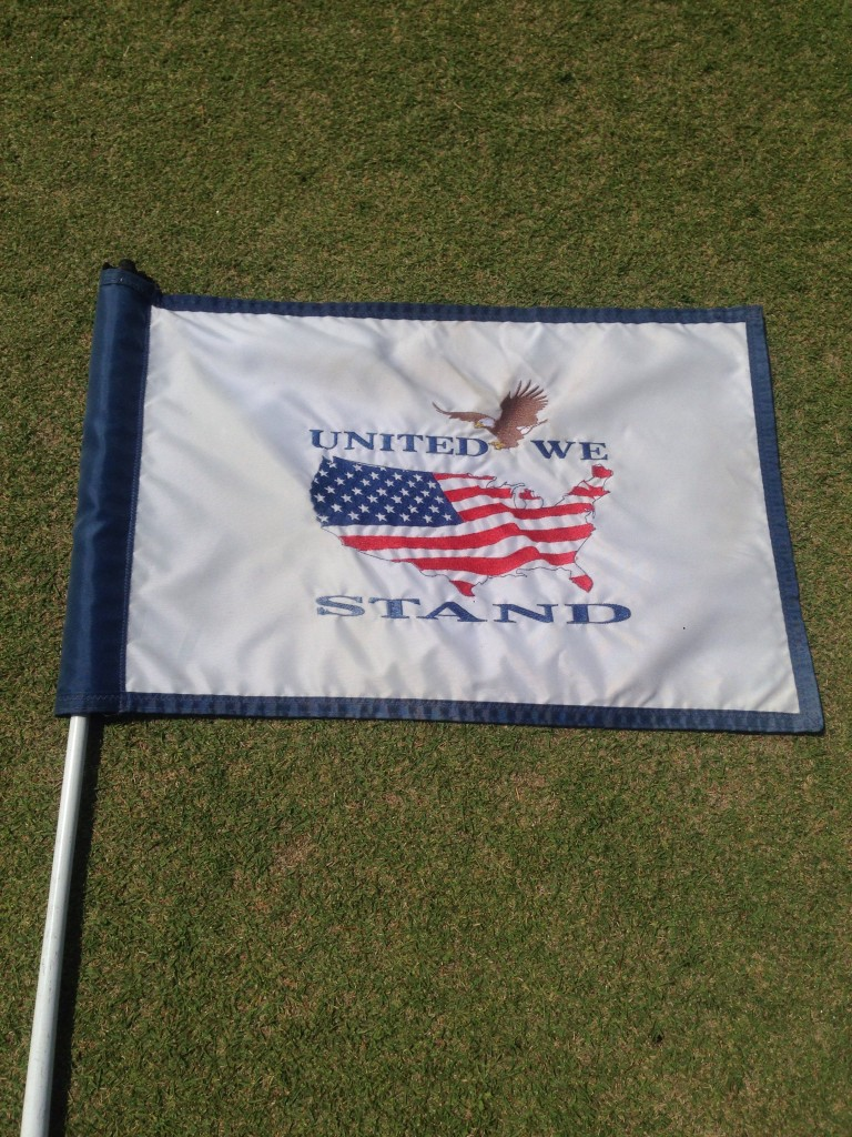 Yokota Air Base's putting green flag. TFM.