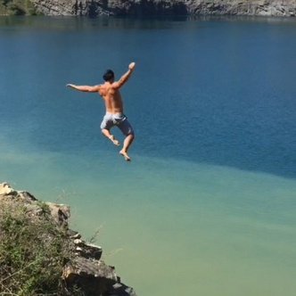 Cliff jumping instead of studying. TFM.