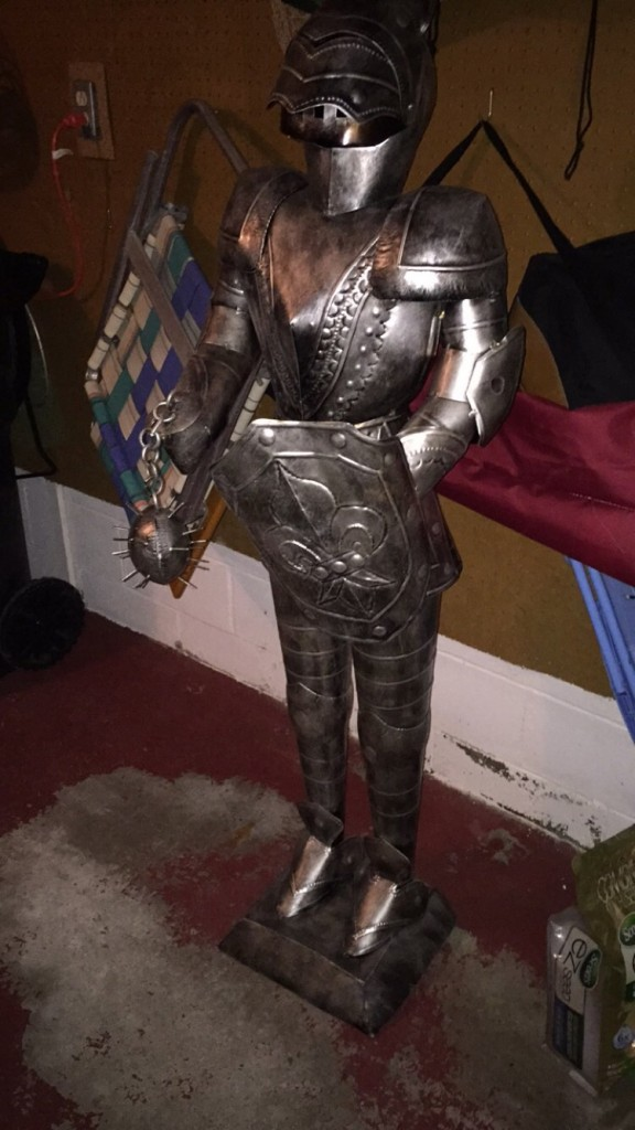 Dad buying a suit of armor. TFM.