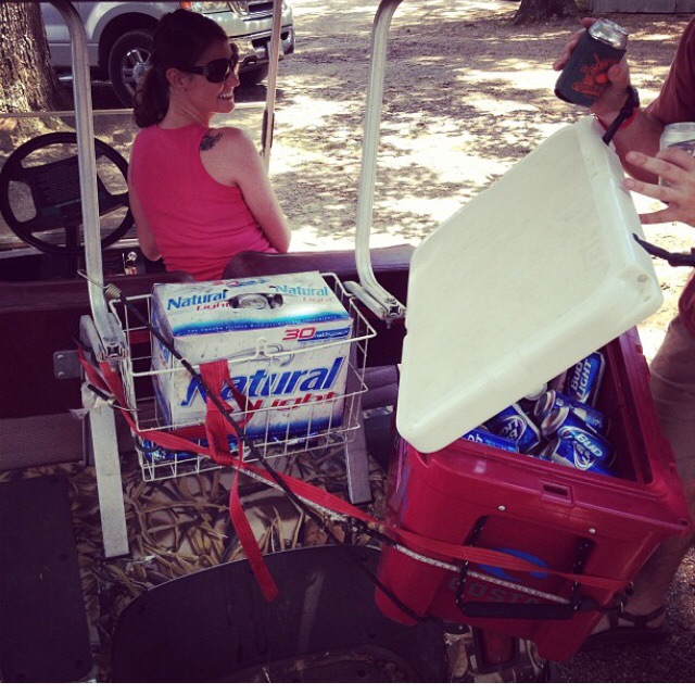Making your golf cart Yeti accessible. TFM.