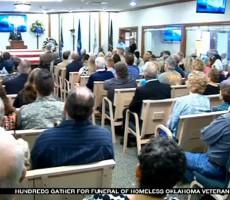 Hundreds Attend Funeral Of Homeless Veteran