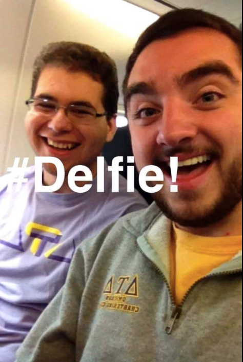 A #Delfie is a dick selfie...