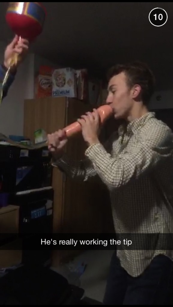Is that a giant penis beer bong? Mother of God.