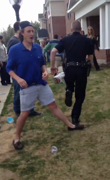 Casually tripping a cop for a fleeting brother. TFM.