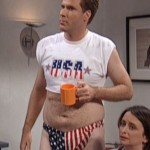 Will Ferrell expressing his patriotism. TFM.