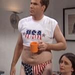 Will Ferrell expressing his patriotism. TFM.
