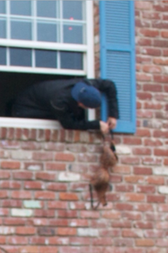 Hanging your slam's bra from the house. TFM.