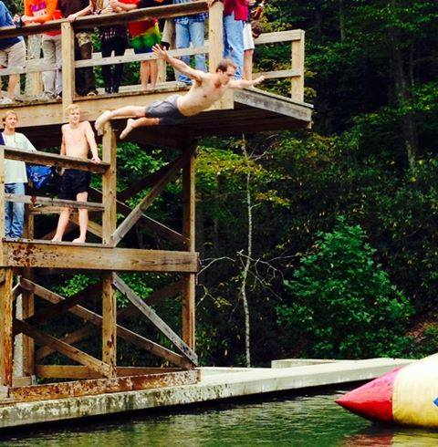 Swan dives at Mountain Weekend. TFM.