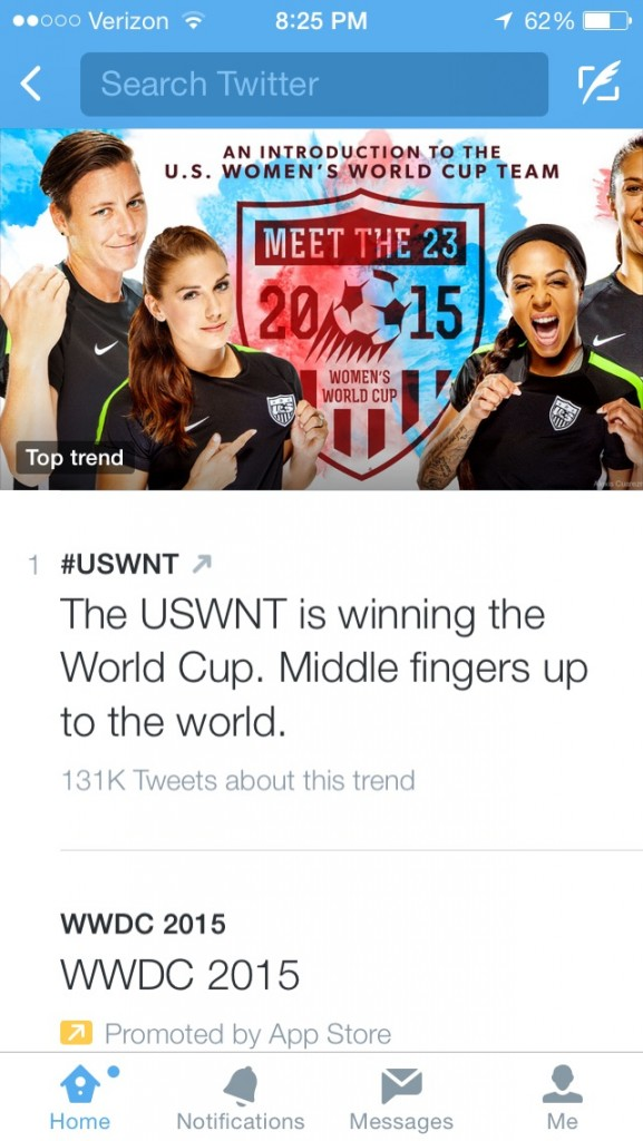 America's attitude towards the rest of the competition. TFM.