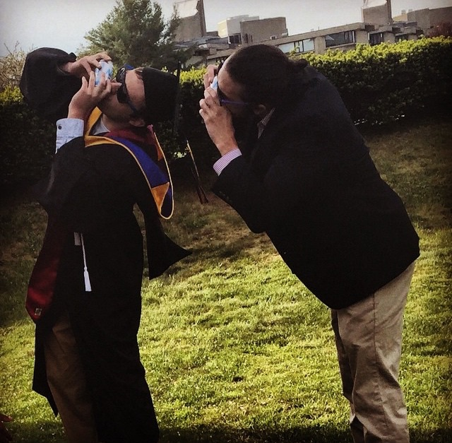 Not letting your big bro graduate without one last natty gun. TFM.
