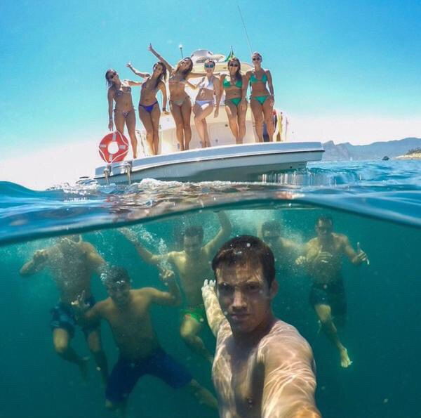 Keeping an eye on the ladies underwater. TFM.