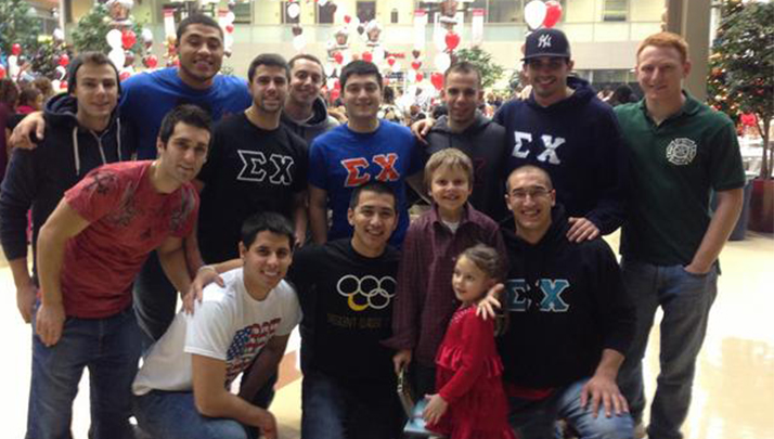 Rutgers Fraternity Brings Cheer To Boy Going Through Leukemia Treatments