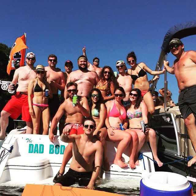 """Naming your boat """"Dad Bod"""" and pulling girls. TFM"""