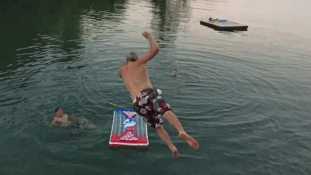 Going all out for the dunk. TFM.