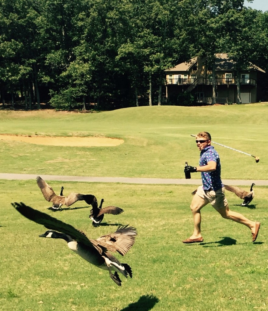 Working on the golf game one swing at a time. TFM.