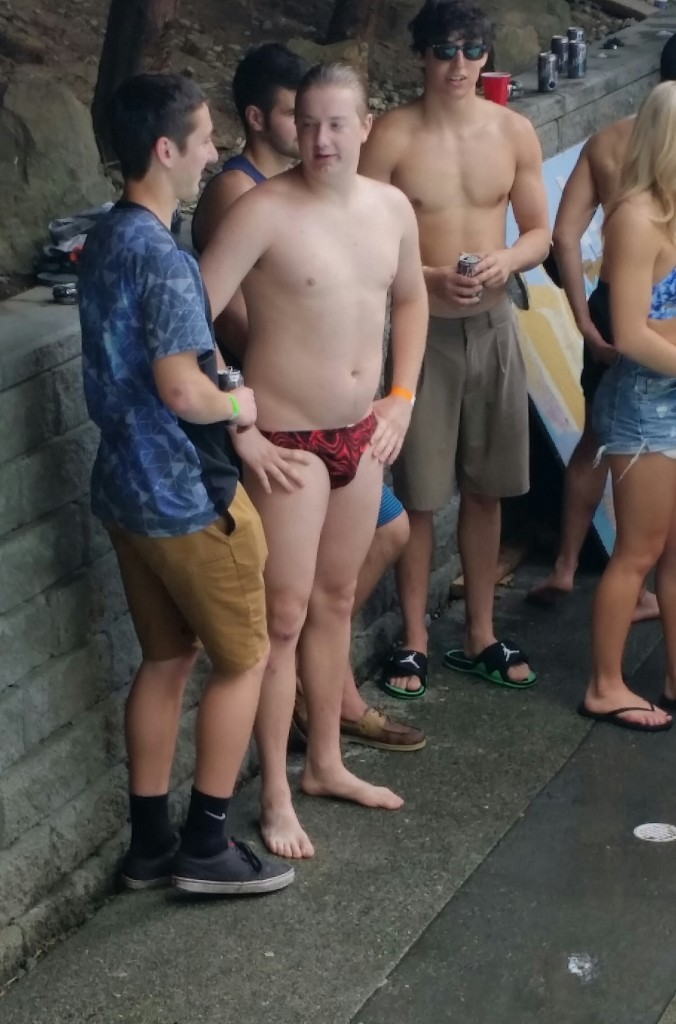 Something about that hair/swimsuit combo screams pedophile.