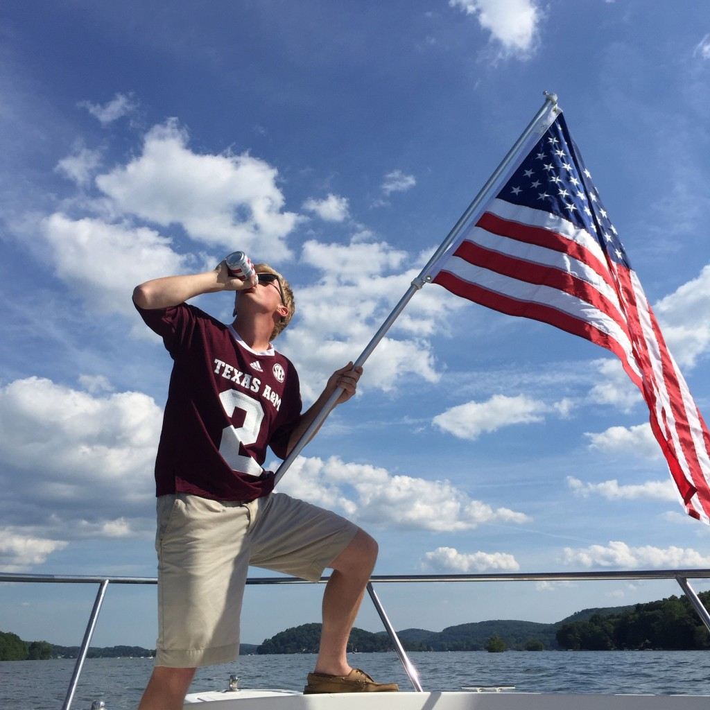 Boat day with Ol' Glory. TFM.
