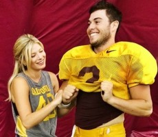 The Hot Girlfriend Of Arizona State's Starting QB Is A Dancer Who Also Isn't Bad At Catching Footballs