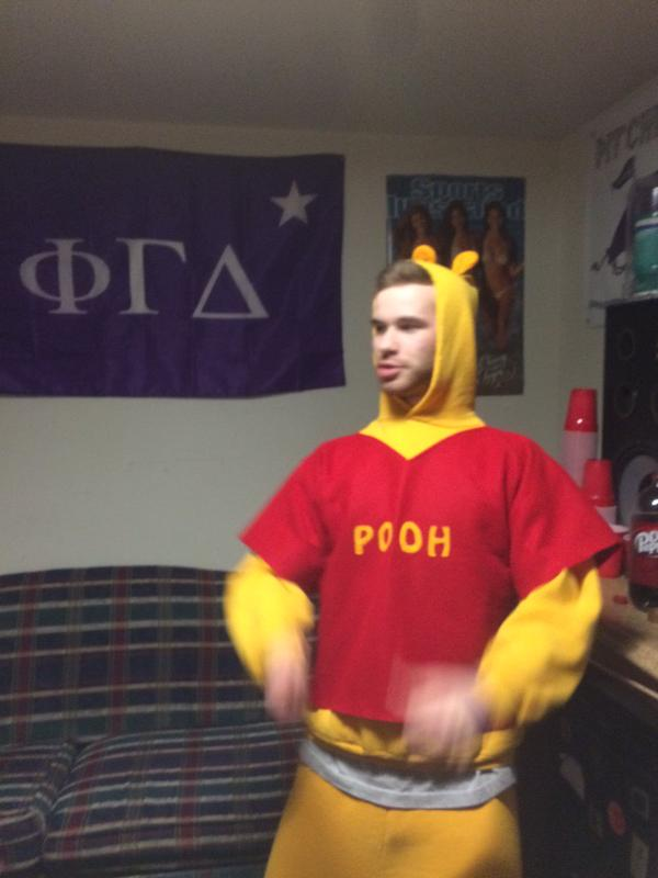 Pooh frats hard, chugs honey.