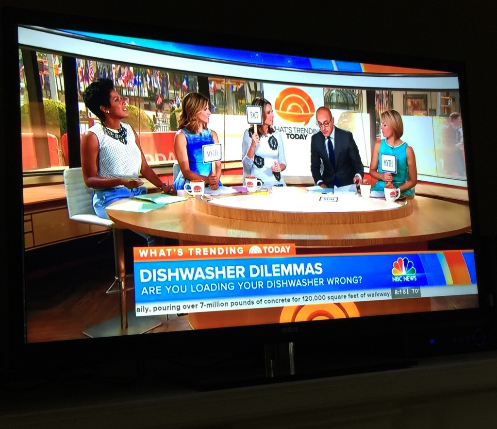 Matt Lauer quizzing women about washing dishes. TFM.