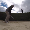Check Out This Incredible Golf Trick Shot Out Of Hell's Bunker At St. Andrews