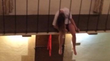 Woman down.