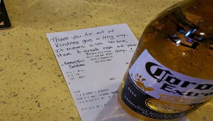 Woman Buys Fallen Soldier A Beer, Restaurant Keeps It Around