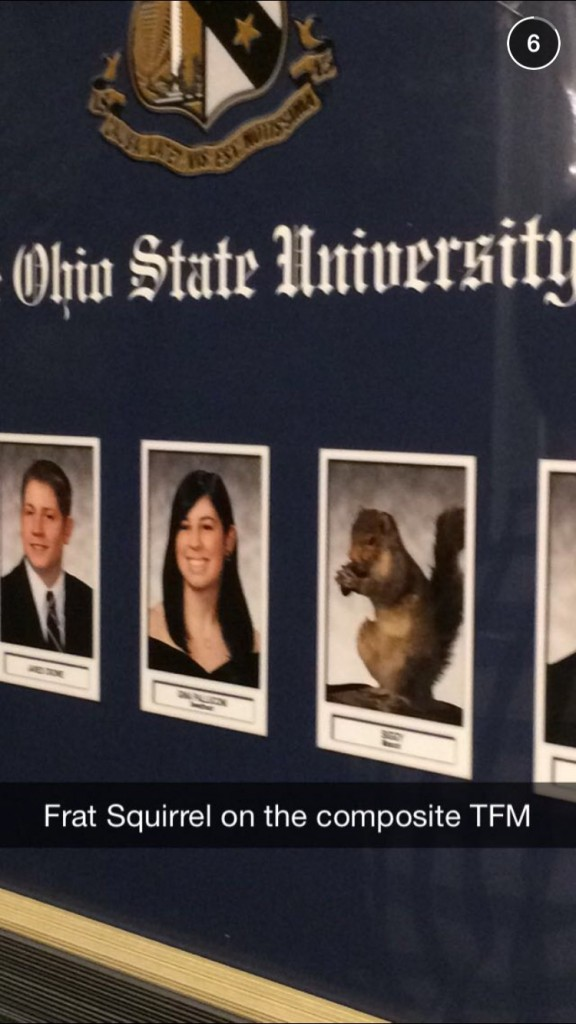 Frat squirrel in the composite? That's just weird.