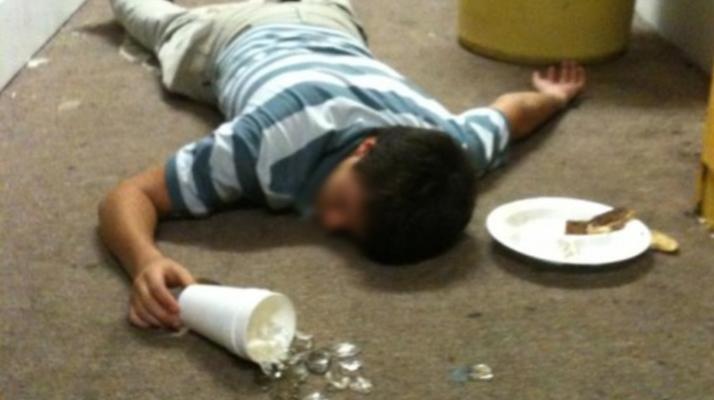 drunk guy bender