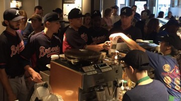 Atlanta Braves Continue The Hazing Of Rookies At Wrigley Field's Nearby Starbucks