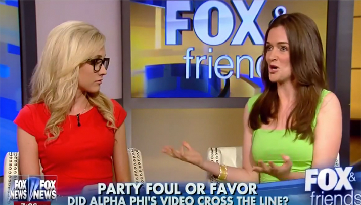 GDI Gets Destroyed By Hot Blonde On Fox News Over The Alabama Alpha Phi Video
