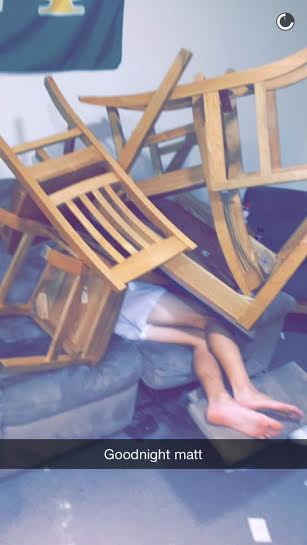 Matt done got chairs stacked on his corpse.