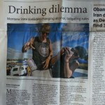 Unintentionally making the front page news for your drinking habits. TFM.