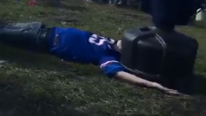 Drunk Bills Fan Attempts RKO Of Punching Dummy, Knocks Himself Out Instead