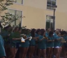 VIDEO- Sorority Girl Eats Shit During Bid Day, Almost Gets Trampled By Other Girls