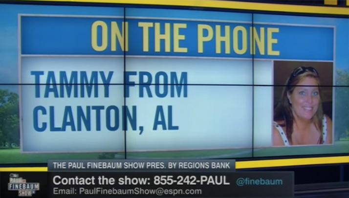 Crazy Auburn Fan Calls Into Finebaum Show And Rips Team To Shreds