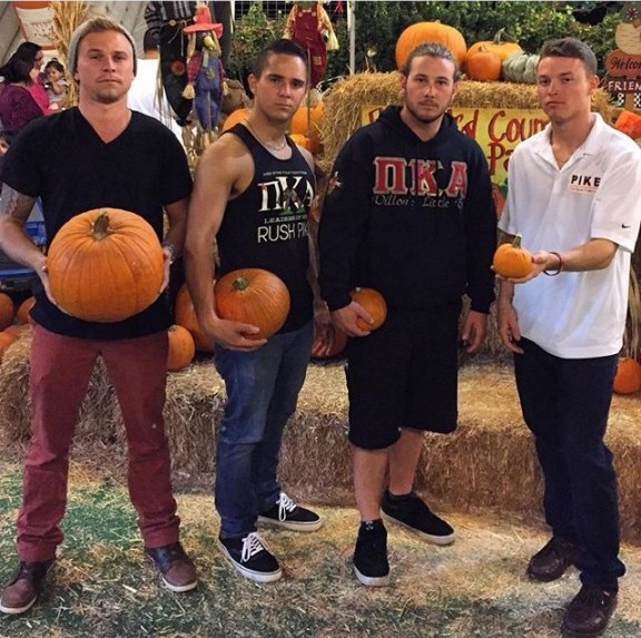 Hard AF in a pumpkin patch.