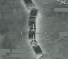 Watch An American-Led Coalition Make It Rain Bombs On ISIS Oil Trucks
