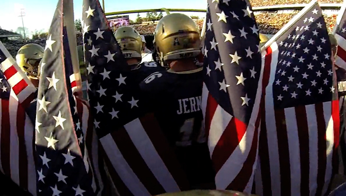 VIDEO- See What It's Like To Run Out Onto Navy's Field In Front Of 34,000 Screaming Fans