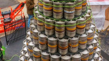 New York Brewery Embraces The Holiday Spirit, Makes Giant Christmas Tree From Kegs