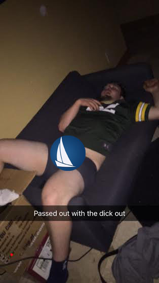 Packers lose, he takes a snooze.