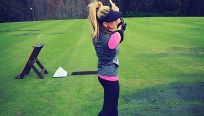 You'll Want To Check Out This Hot Golfer With Giant Breasts Who Went Topless On Instagram