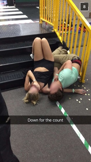 Man and woman down.