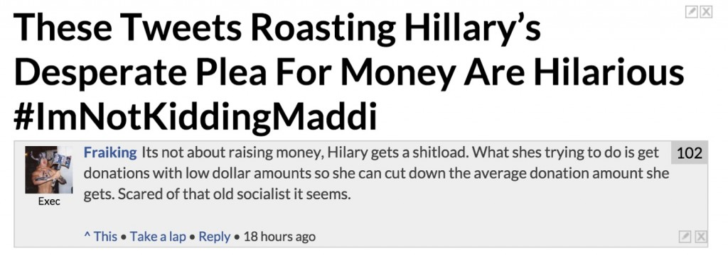 Can't fool frat guys when it comes to finance, Hillary.